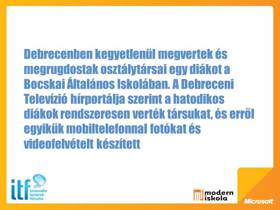 Debrecenben kegyetlenül megvertek és megrugdostak osztálytársai egy diákot a Bocskai Általános Iskolában. A Debreceni Televízió hírportálja szerint a