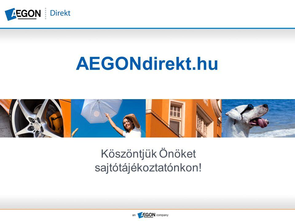 AEGONdirekt.hu Köszöntjük Önöket sajtótájékoztatónkon!