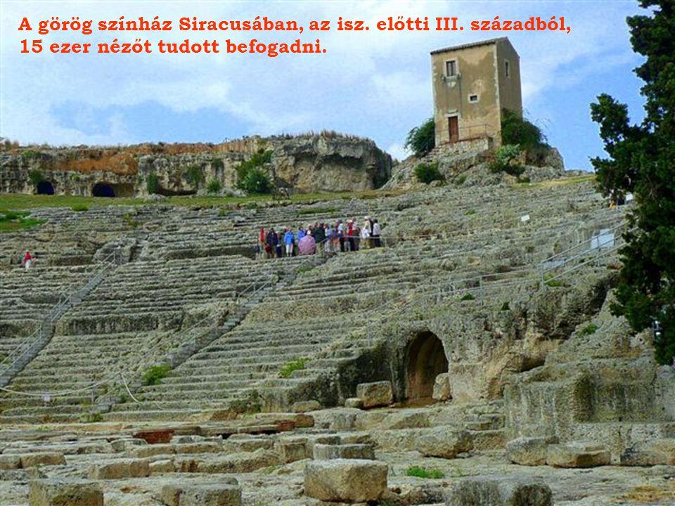 Siracusa, az Apolló templom romjai az isz.előtti V. századból