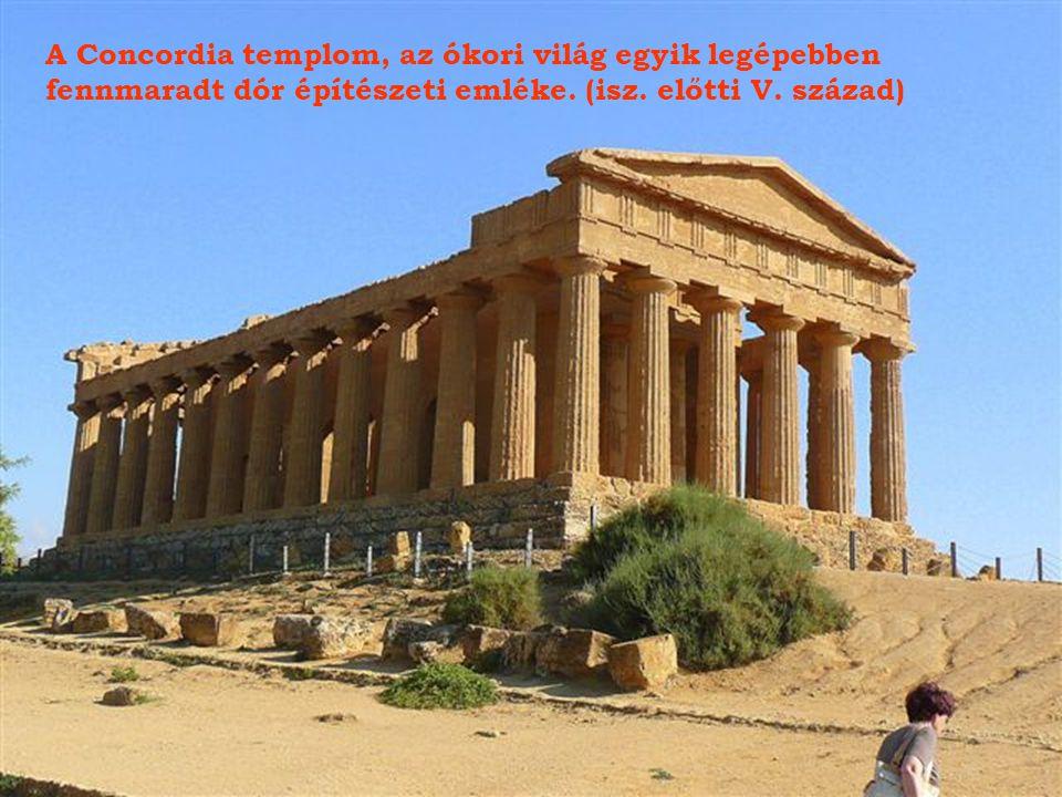 Castor és Pollux templomának romjai., isz.előtti V. század.