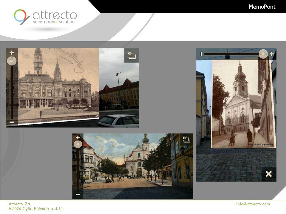 Attrecto Zrt. H-9024 Győr, Kálvária u. 4-10. info@attrecto.com MemoPont