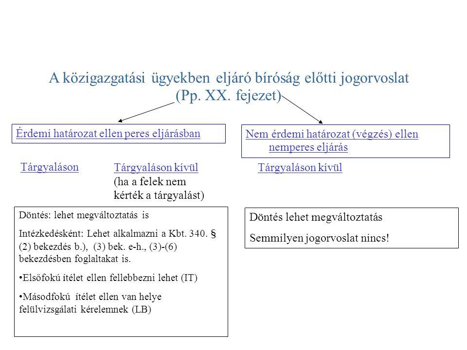 A közigazgatási ügyekben eljáró bíróság előtti jogorvoslat (Pp.