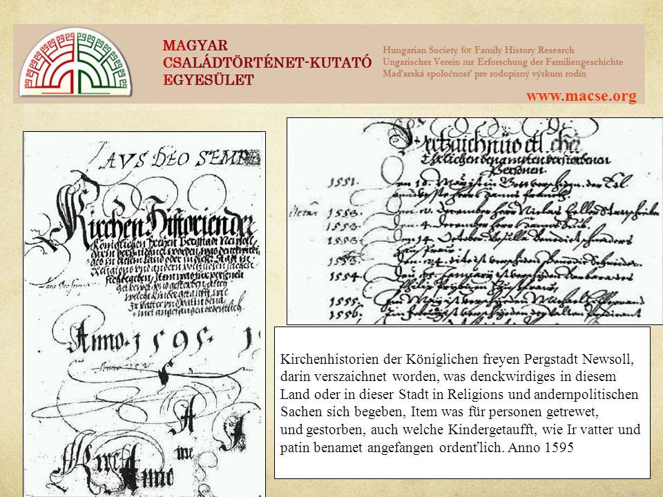 www.macse.org Történelmi áttekintés – I.