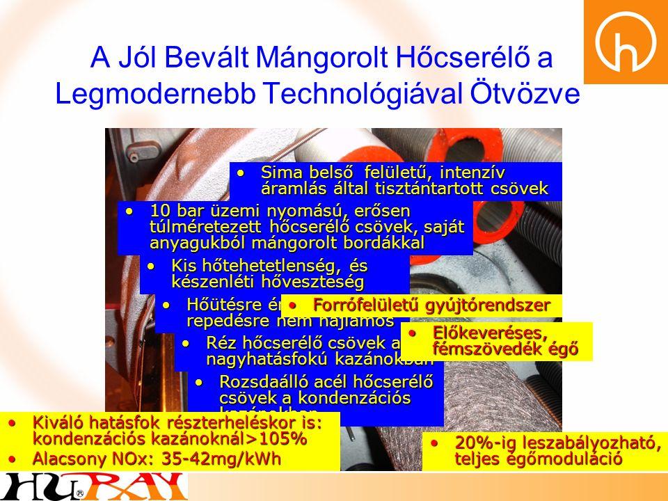A Jól Bevált Mángorolt Hőcserélő a Legmodernebb Technológiával Ötvözve •Kis hőtehetetlenség, és készenléti hőveszteség •10 bar üzemi nyomású, erősen t
