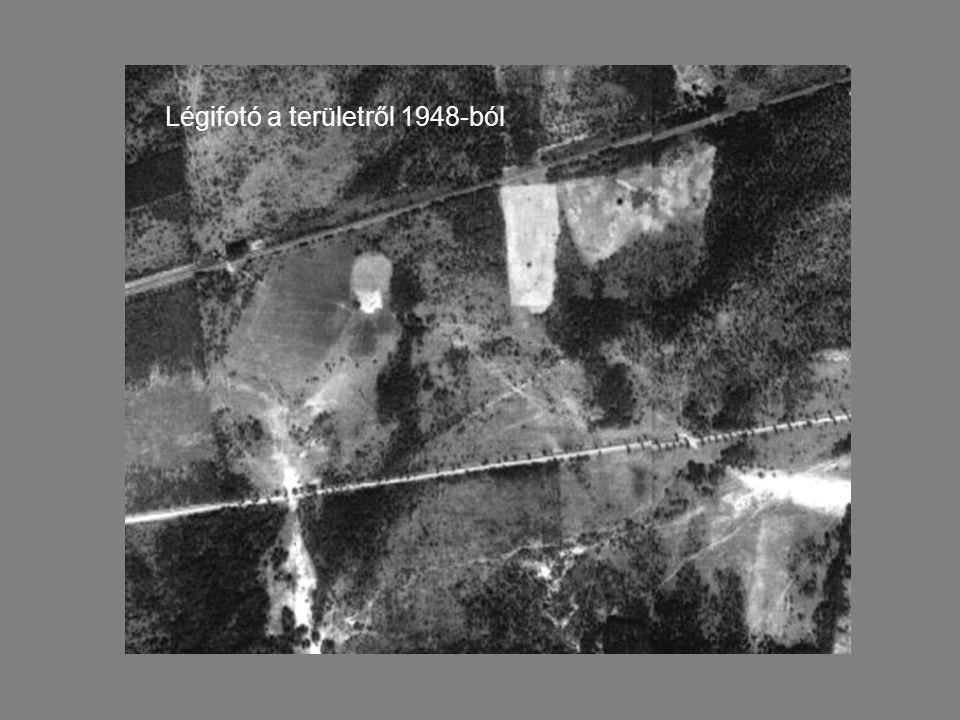 Légifotó a területről 1948-ból