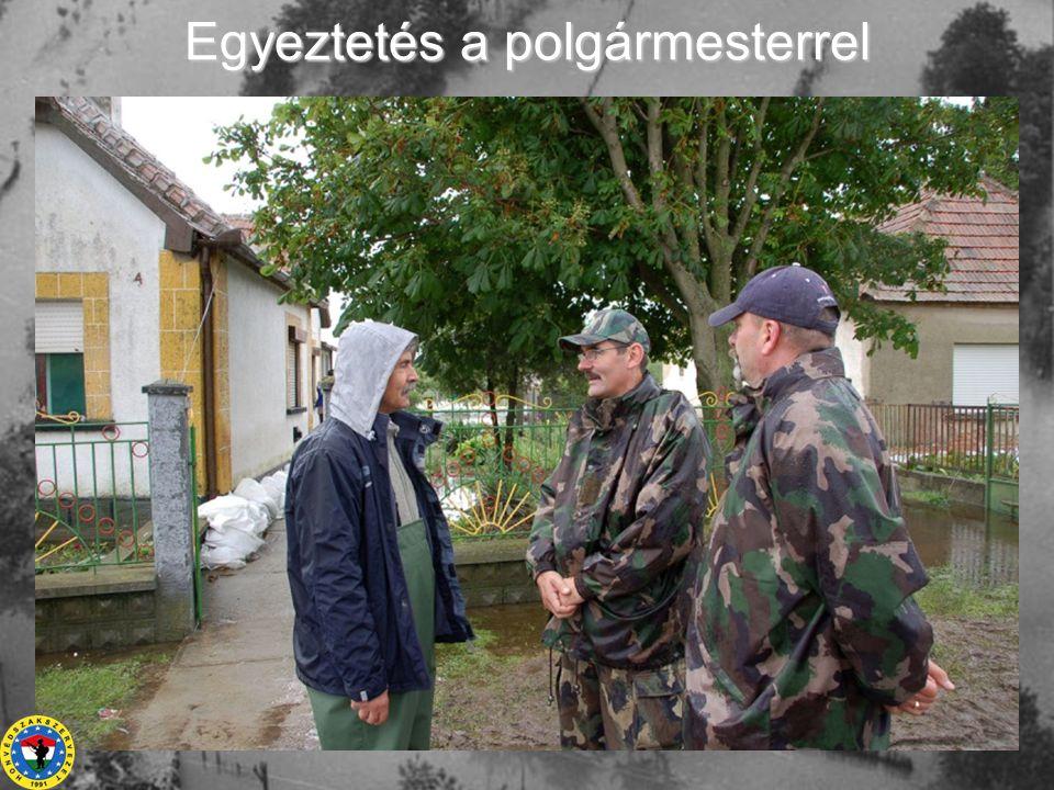 Civilek és a győri katonák