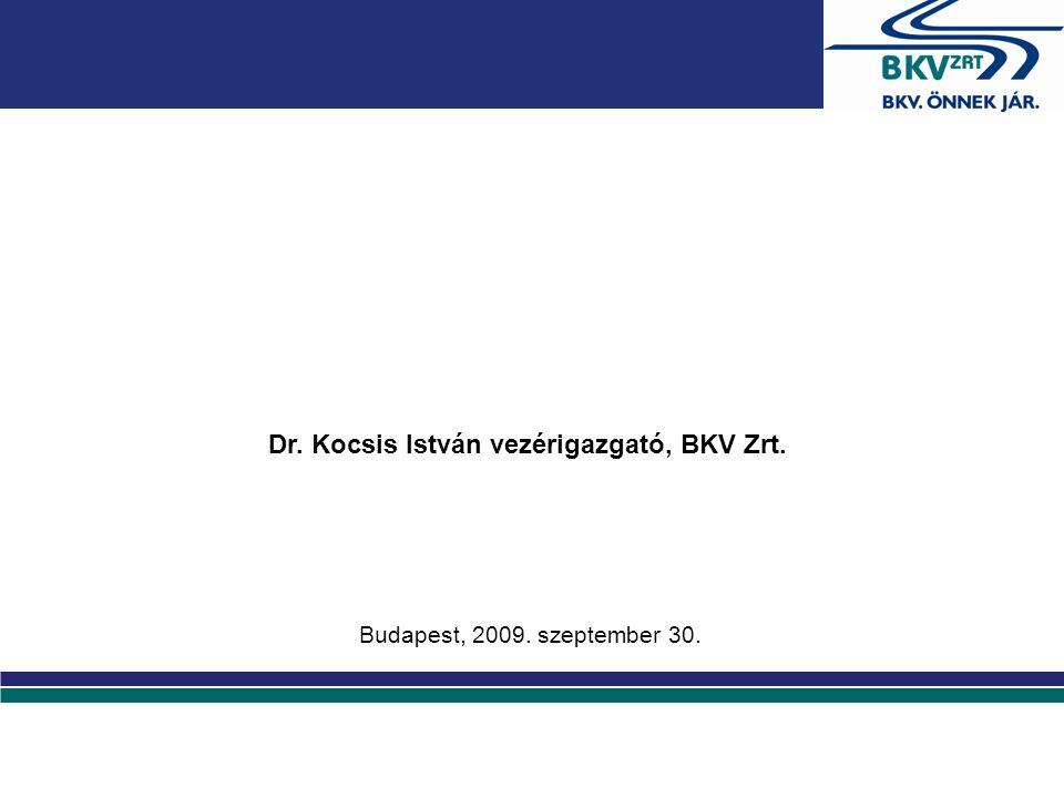 A projekt főbb adatai Megpályázott támogatás: 4 milliárd Ft •Bevont járművek száma: ~2200 db •Bevont megállók száma: ~257 db A projekt célja: - Utastájékoztatás, valósidejű információkkal - Optimalizált járatsűrűség - a menetrendi időadatok pontosságának,megbízhatóságának növelése - Üzemeltetési költségek optimalizálása - Környezetterhelés csökkentése Státusza: - Támogatási Szerződés aláírásra került - Közbeszerzési eljárás elindult - Projekt kezdés 2009 december 2.