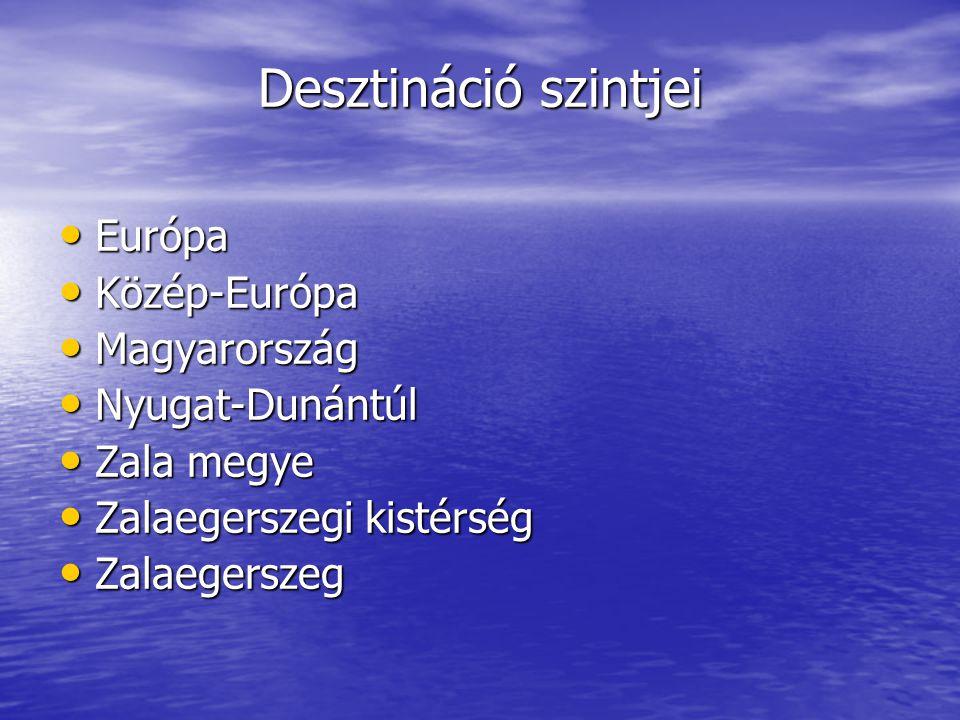 Desztináció szintjei • Európa • Közép-Európa • Magyarország • Nyugat-Dunántúl • Zala megye • Zalaegerszegi kistérség • Zalaegerszeg
