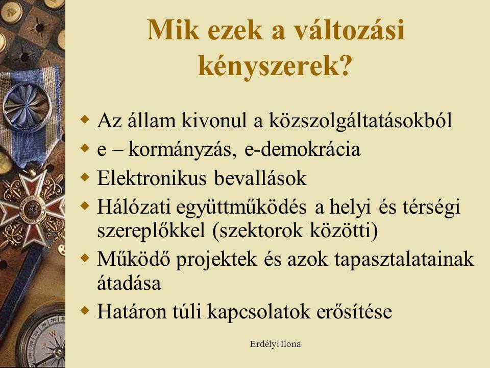 Erdélyi Ilona Mik ezek a változási kényszerek.