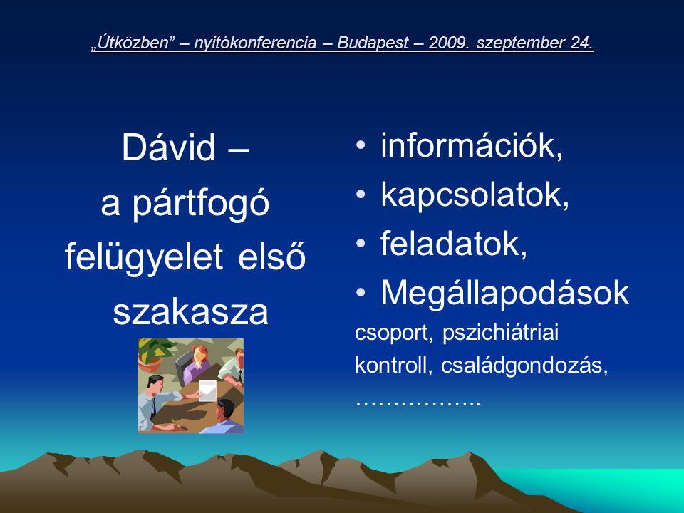 """""""Útközben – nyitókonferencia – Budapest – 2009. szeptember 24."""