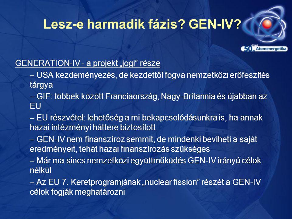 """Lesz-e harmadik fázis? GEN-IV? GENERATION-IV - a projekt """"jogi"""" része – USA kezdeményezés, de kezdettől fogva nemzetközi erőfeszítés tárgya – GIF: töb"""