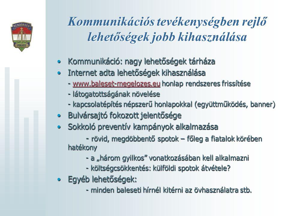 Kommunikációs tevékenységben rejlő lehetőségek jobb kihasználása •Kommunikáció: nagy lehetőségek tárháza •Internet adta lehetőségek kihasználása - www