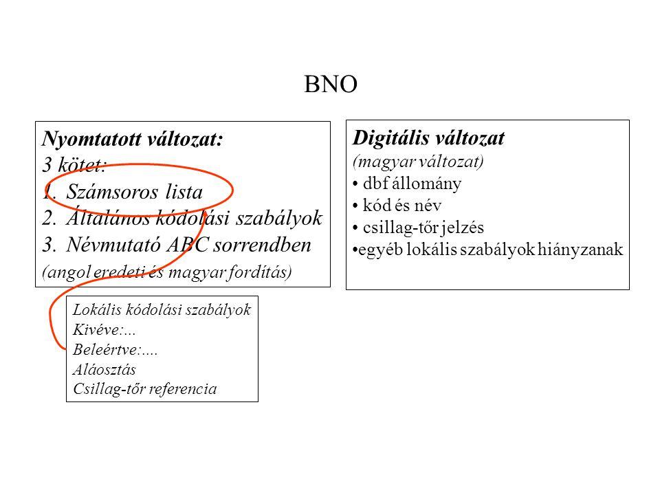 SNOMED Egy dimenzió önmagában = egyszerű hierarchia Dimenziók kombináltan = kombinatorikus rendszer G modullal = kombinatorikus rendszer kötött jelentéskészletű szemantikus relációkkal