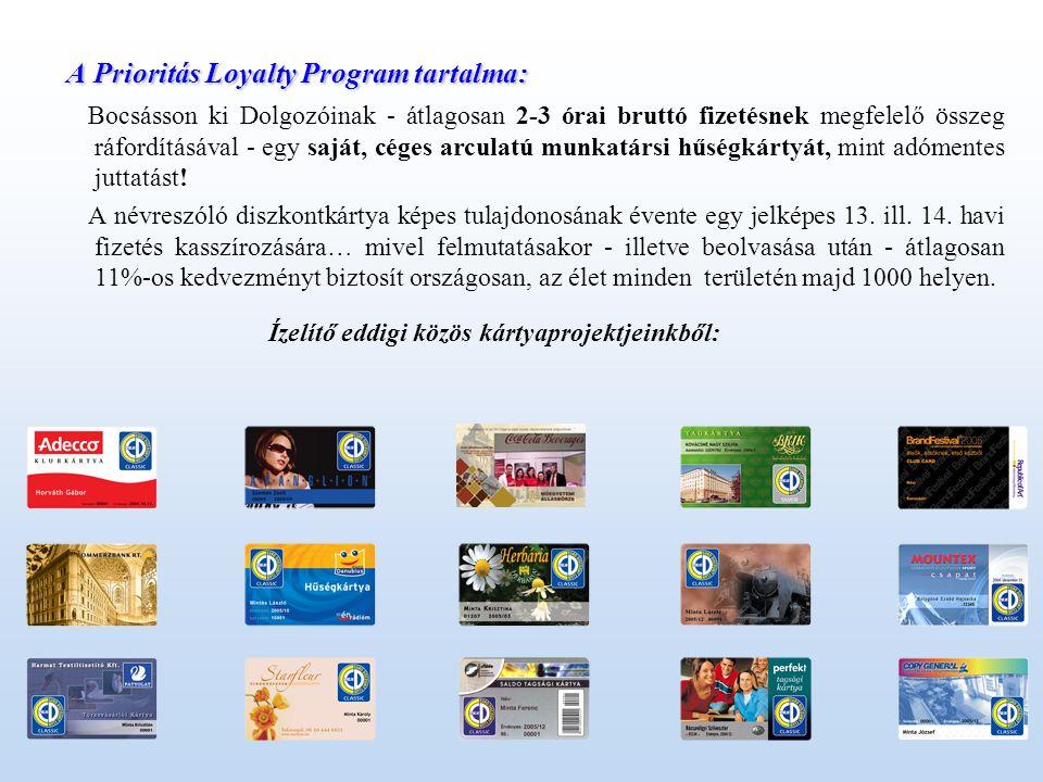 Lehetőség nyílik a Céges arculatú kártya másod- illetve harmad felhasználására is pl.