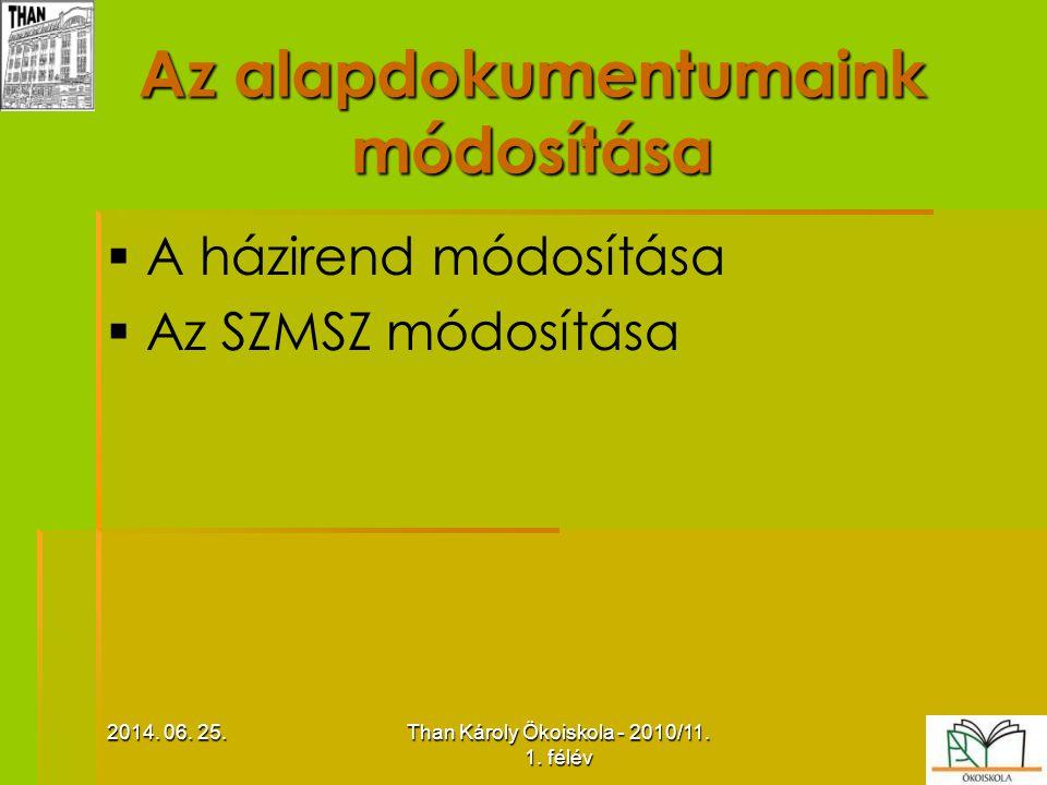 A tanulói létszám alakulása   A nappali tagozaton (fő) 2010.01.16.2010.09.30.