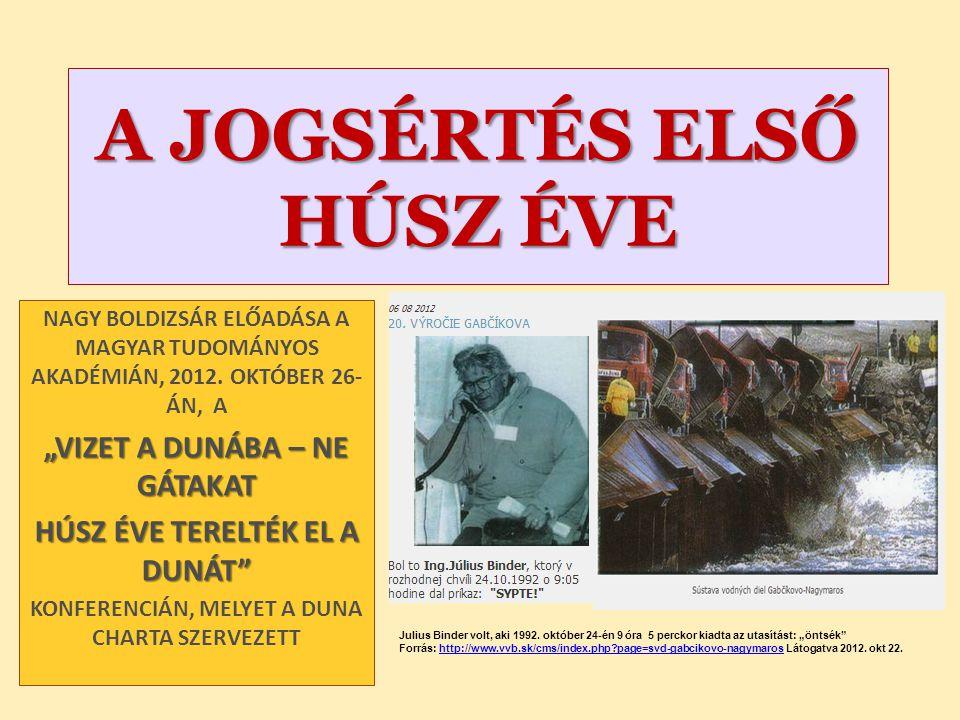 Nagy Boldizsár előadása 1139/2004.(XII.11.) Korm.