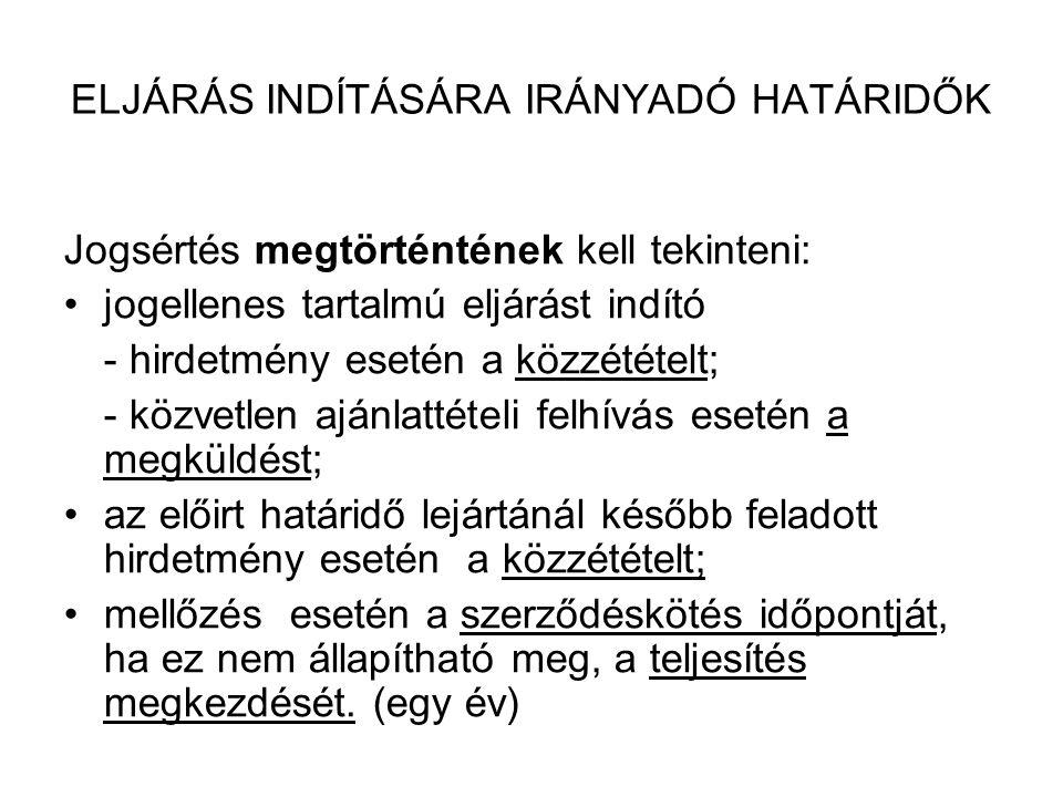 A JOGORVOSLATI RENDSZER TOVÁBBI VÁLTOZÁSAI •2010.01.