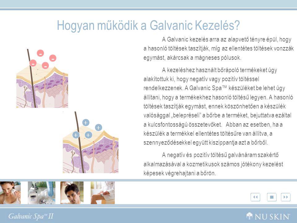 Hogyan működik a Galvanic Kezelés? A Galvanic kezelés arra az alapvető tényre épül, hogy a hasonló töltések taszítják, míg az ellentétes töltések vonz