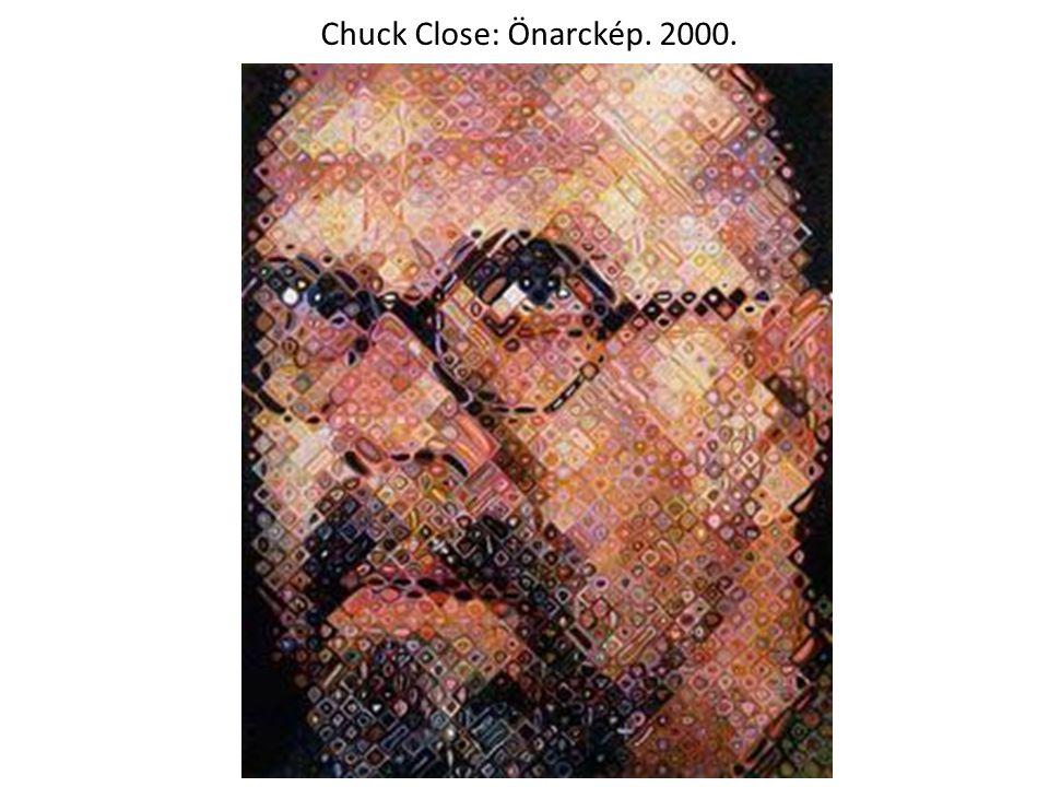 Chuck Close: Önarckép. 2000.