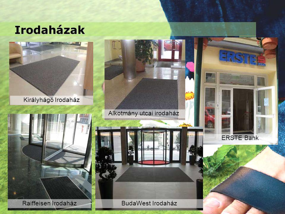 Irodaházak Királyhágó Irodaház Alkotmány utcai irodaház Raiffeisen IrodaházBudaWest Irodaház ERSTE Bank