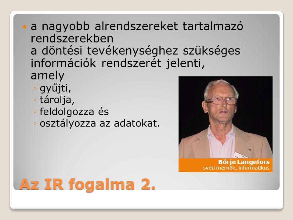 Az IR fogalma 2.