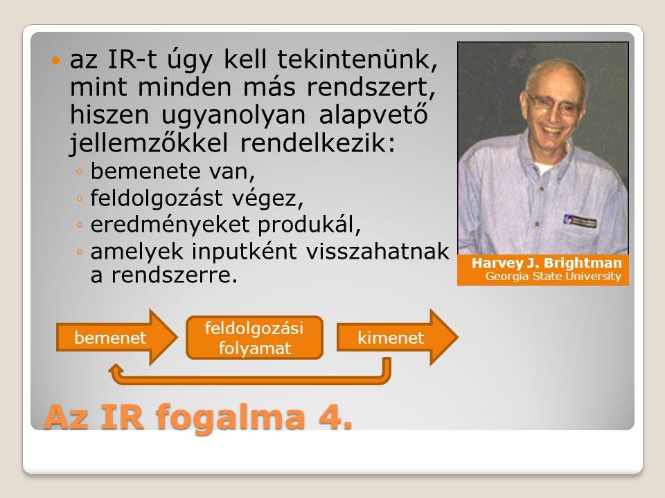 Az IR fogalma 4.