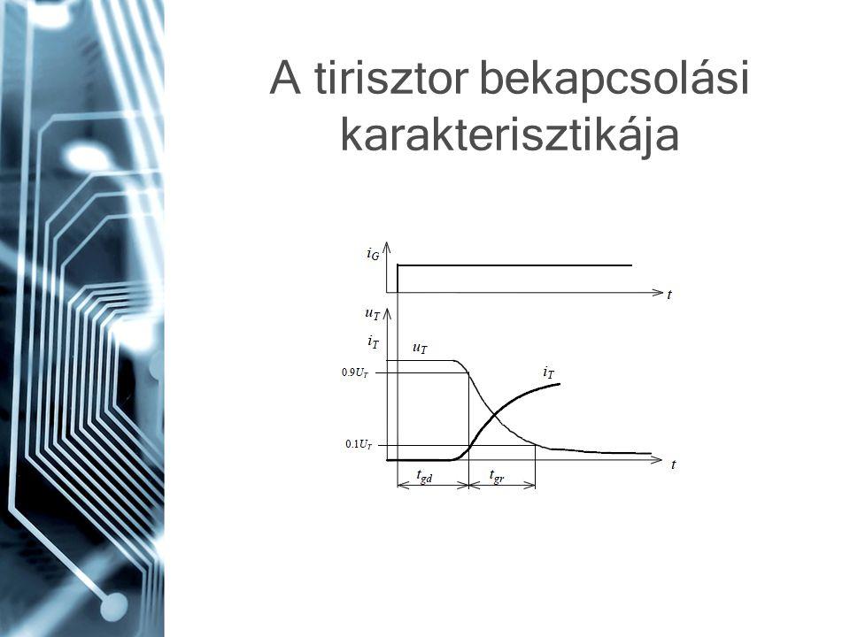 A tirisztor bekapcsolási karakterisztikája