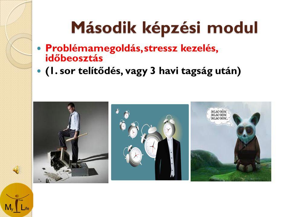 Második képzési modul  Problémamegoldás, stressz kezelés, időbeosztás  (1.