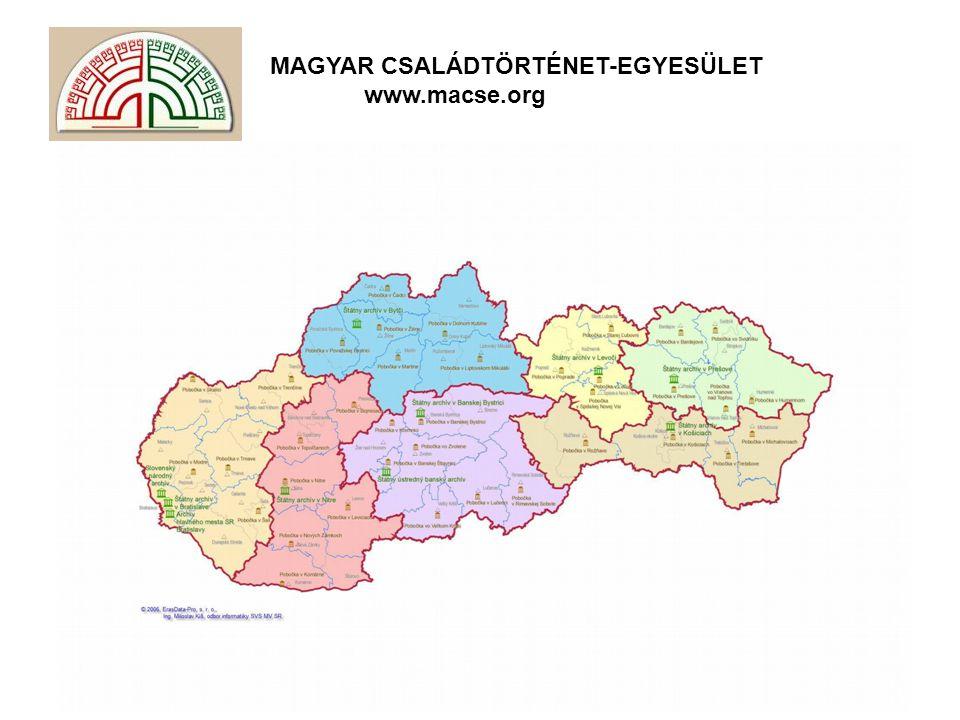 MAGYAR CSALÁDTÖRTÉNET-EGYESÜLET www.macse.org