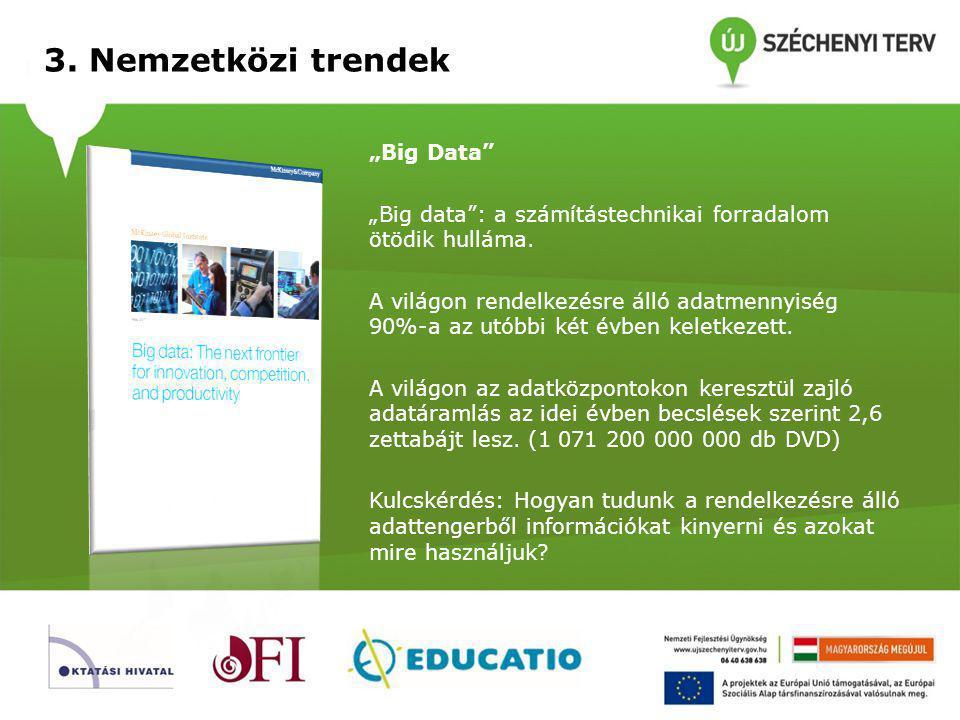 """3.Nemzetközi trendek """"Big Data """"Big data : a számítástechnikai forradalom ötödik hulláma."""