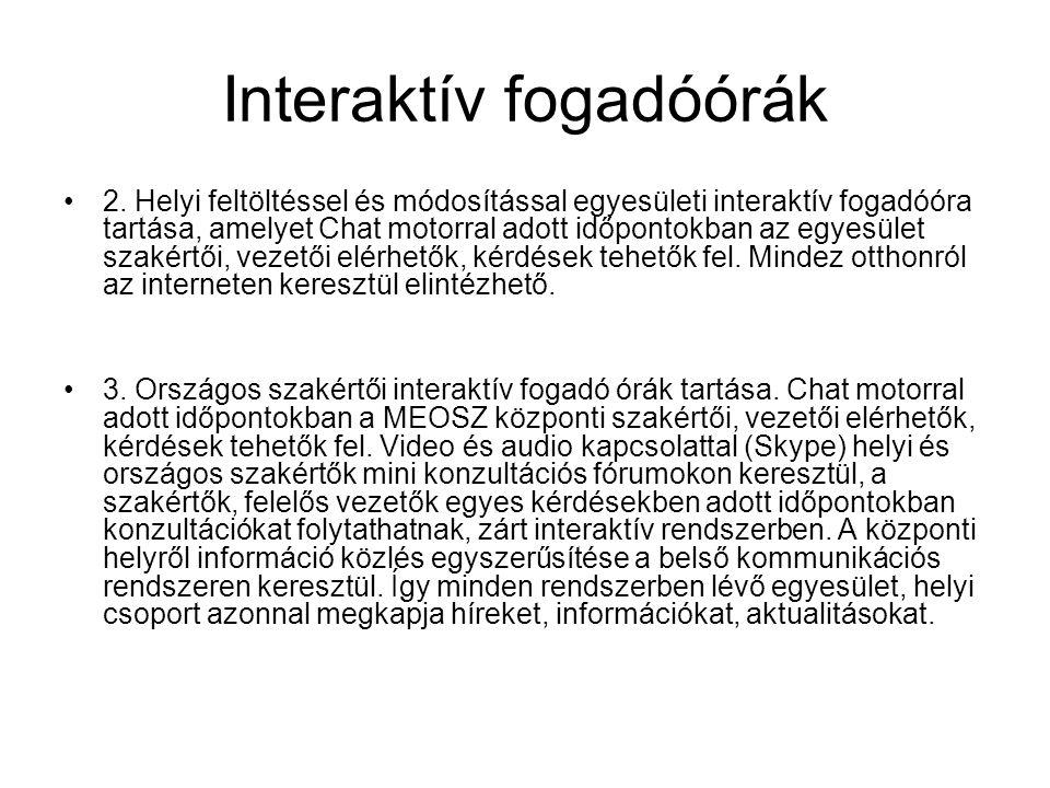 Interaktív fogadóórák •2.