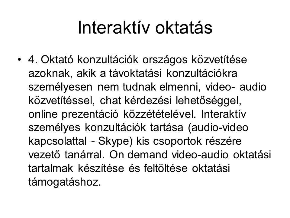 Interaktív oktatás •4.