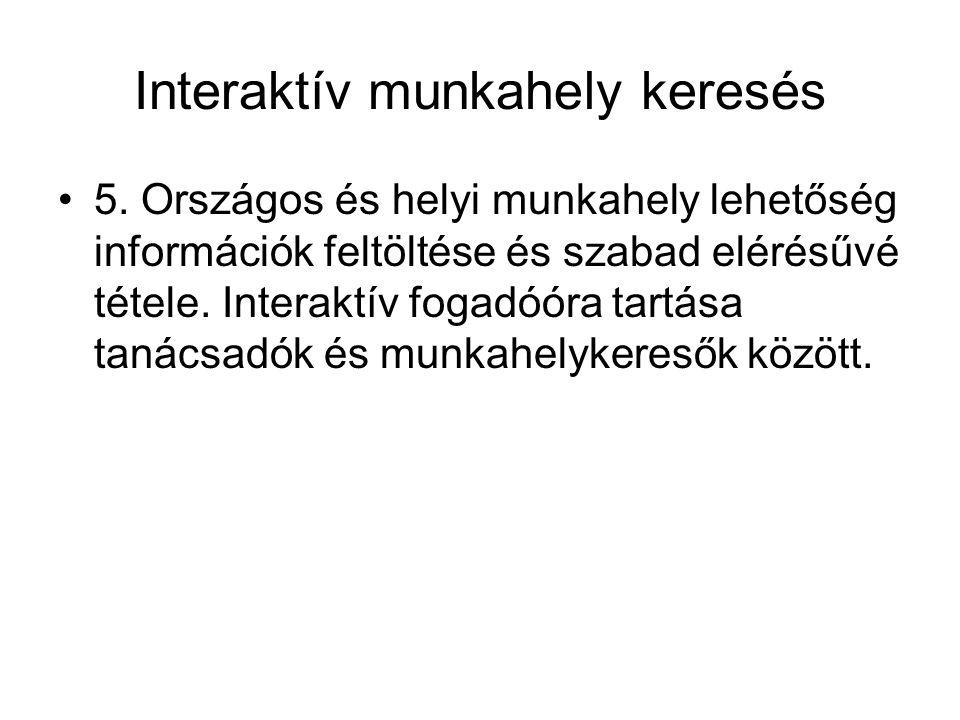 Interaktív ügyfél kommunikáció •6.