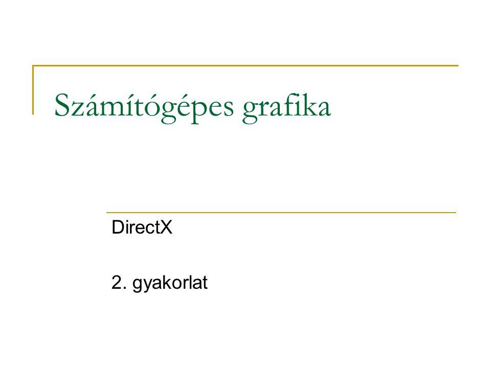 Számítógépes grafika DirectX 2. gyakorlat