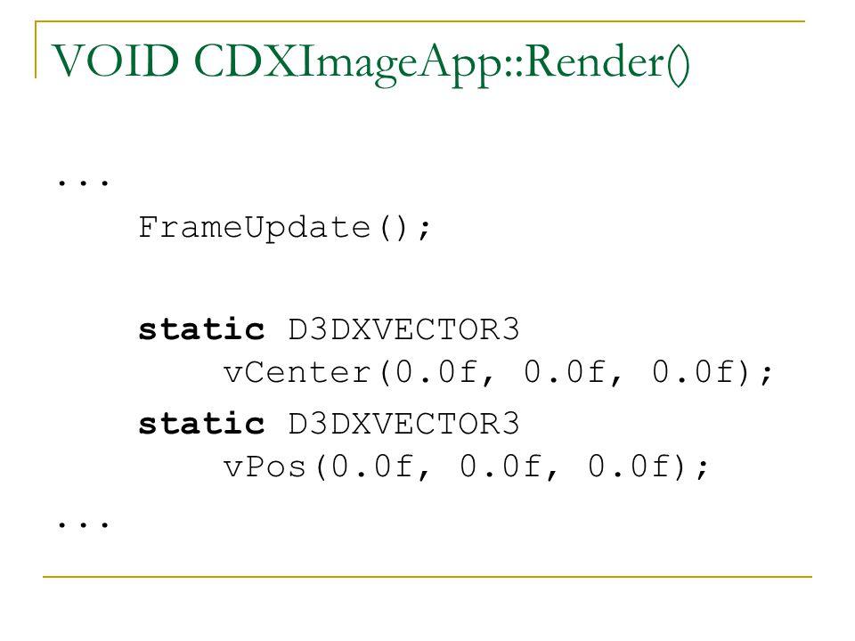 VOID CDXImageApp::Render()...