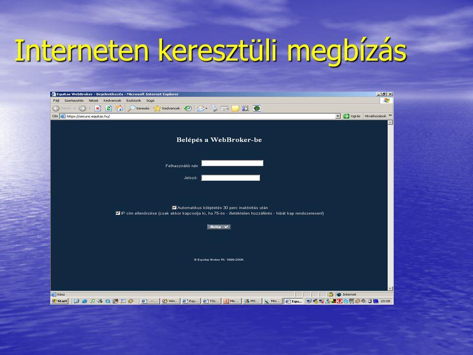 Interneten keresztüli megbízás