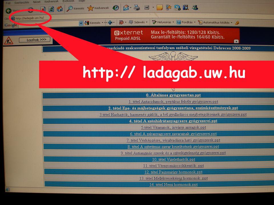 http:// ladagab.uw.hu