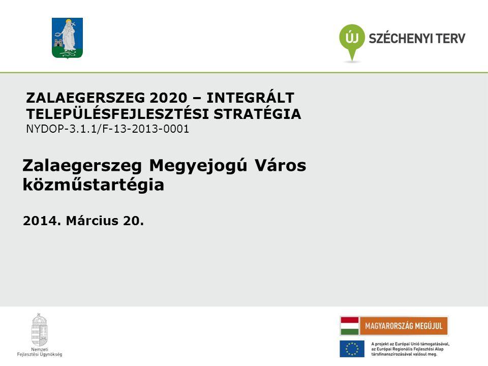 ZALAEGERSZEG 2020 – INTEGRÁLT TELEPÜLÉSFEJLESZTÉSI STRATÉGIA NYDOP-3.1.1/F-13-2013-0001 Zalaegerszeg Megyejogú Város közműstartégia 2014. Március 20.