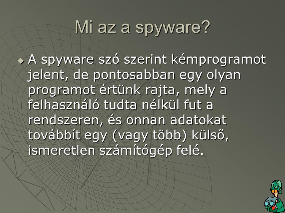 Mi az a spyware.