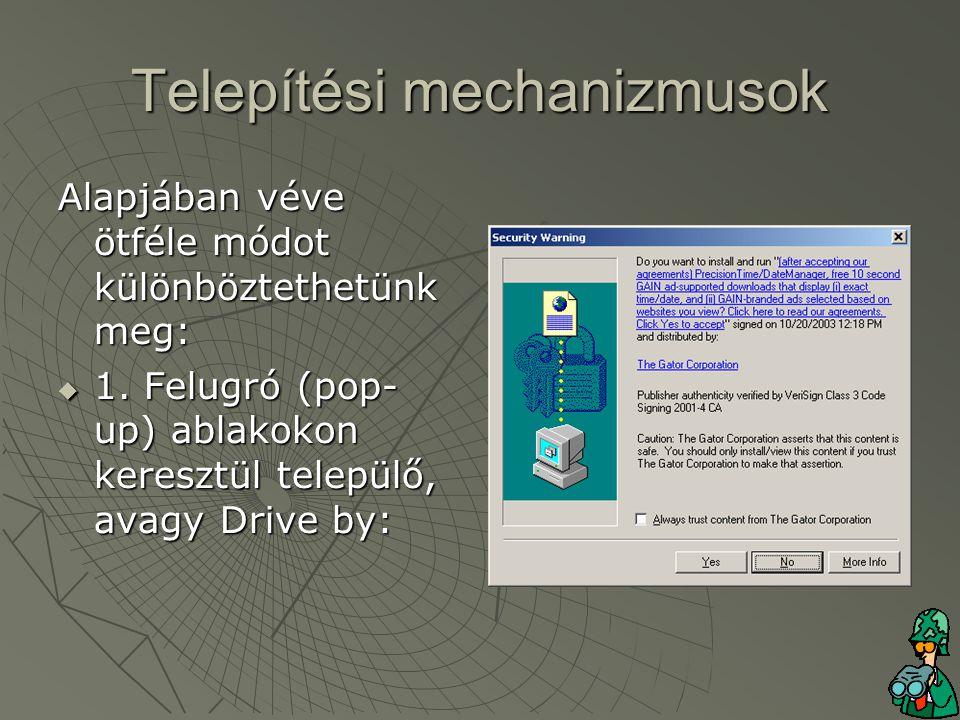 Telepítési mechanizmusok  2.