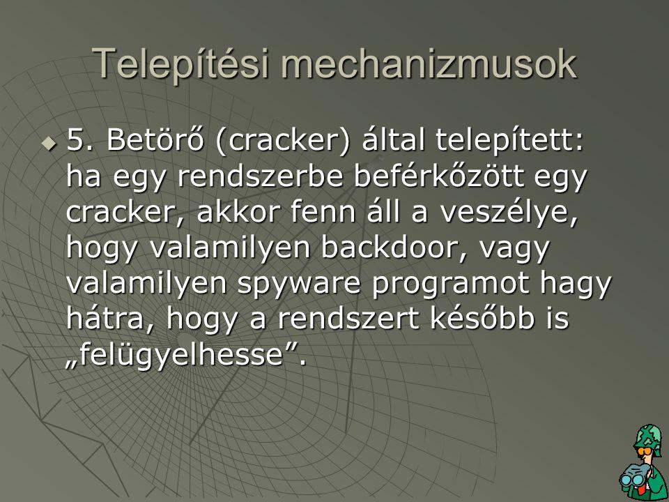 Telepítési mechanizmusok  5.