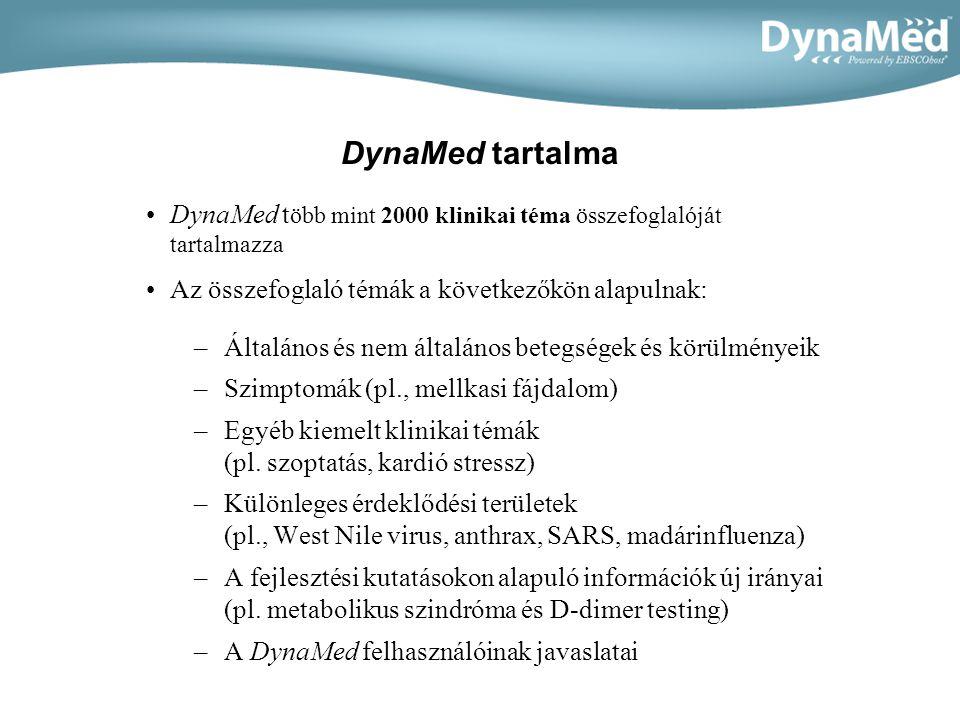 Új elemek a DynaMedben