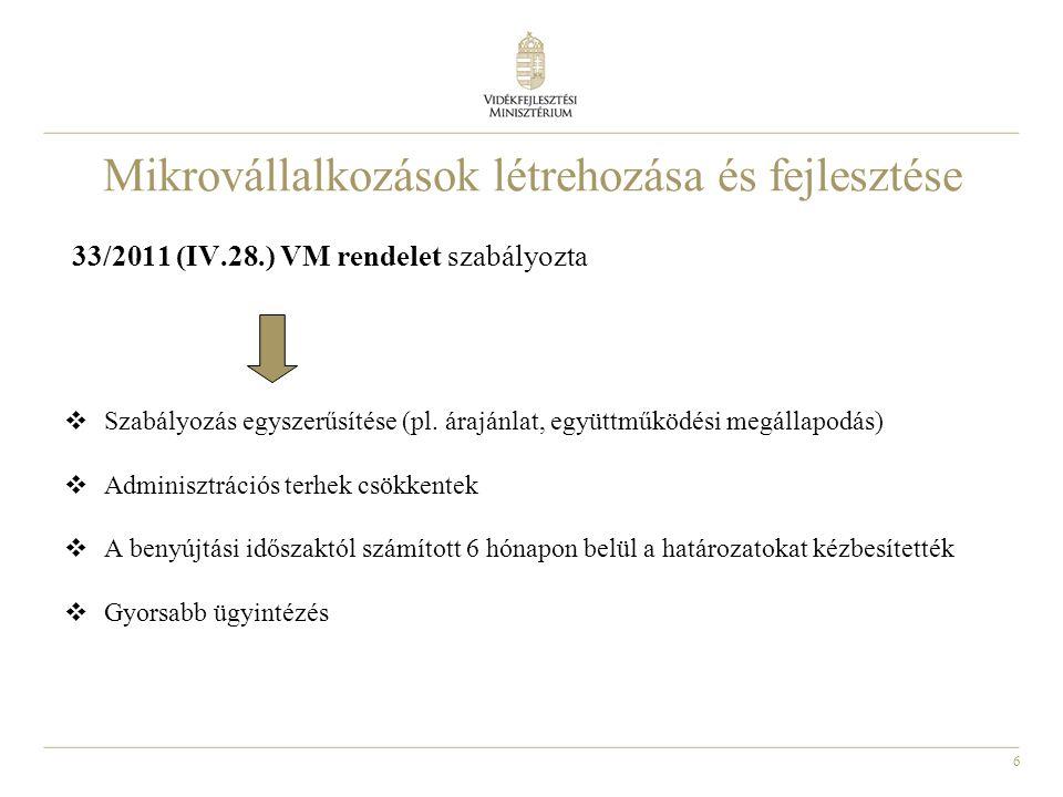 37 LEADER intézkedések •A Helyi Vidékfejlesztési Stratégiák LEADER fejezetének végrehajtásához nyújtandó támogatási jogcím –alulról építkező megközelítés, –területalapú fejlesztés, –háromoldalú partnerség (a vállalkozói-, civil-, és közszféra együttműködését a stratégia-alkotás és a megvalósítás területén) •2011-es beadása lezárult, 2012.