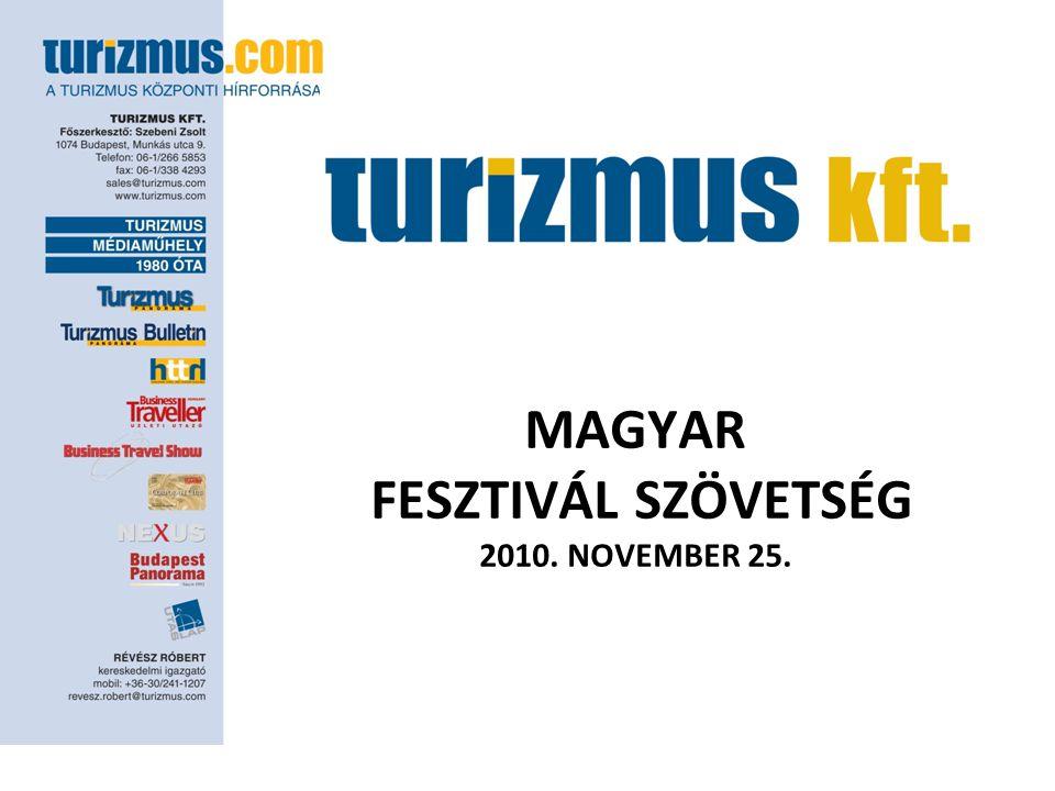 MAGYAR FESZTIVÁL SZÖVETSÉG 2010. NOVEMBER 25.