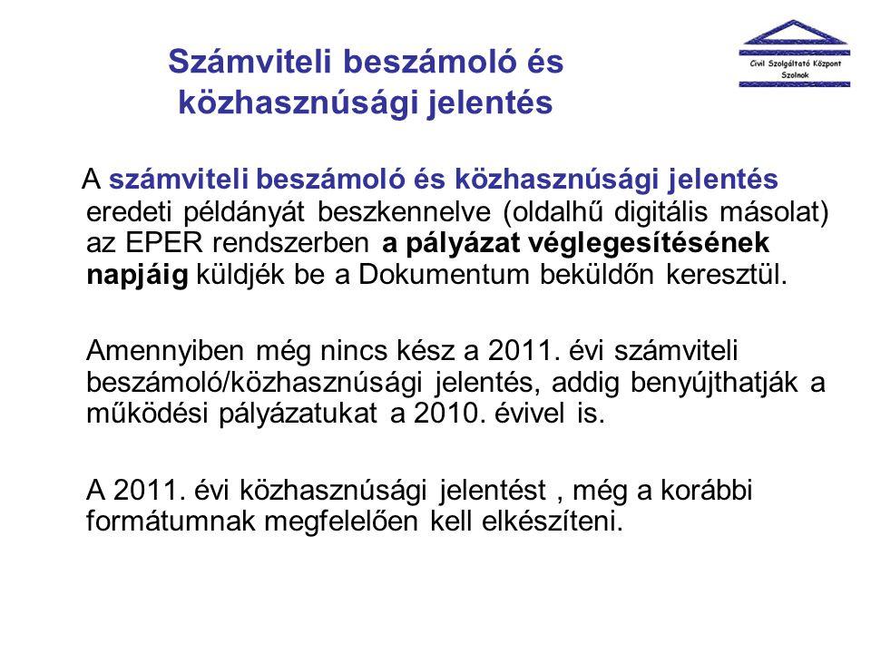 Számviteli beszámoló és közhasznúsági jelentés A számviteli beszámoló és közhasznúsági jelentés eredeti példányát beszkennelve (oldalhű digitális máso