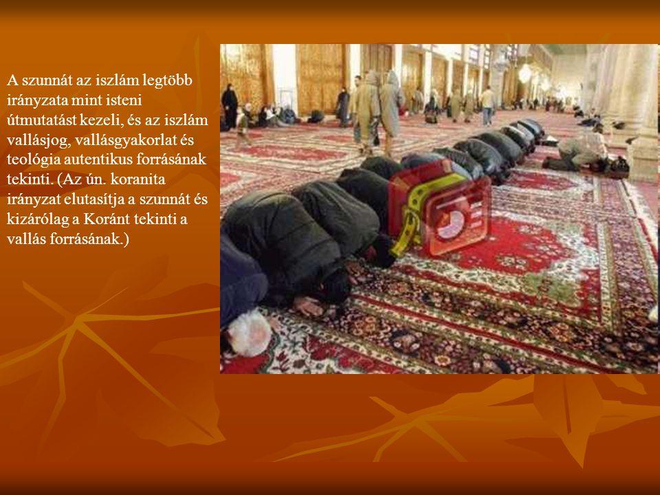A szunnát az iszlám legtöbb irányzata mint isteni útmutatást kezeli, és az iszlám vallásjog, vallásgyakorlat és teológia autentikus forrásának tekinti