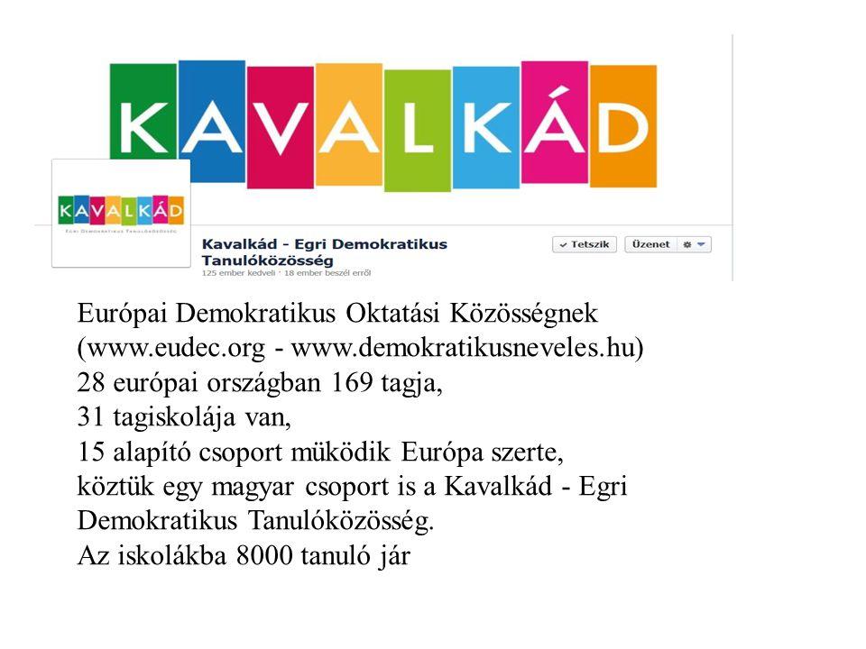 Európai Demokratikus Oktatási Közösségnek (www.eudec.org - www.demokratikusneveles.hu) 28 európai országban 169 tagja, 31 tagiskolája van, 15 alapító