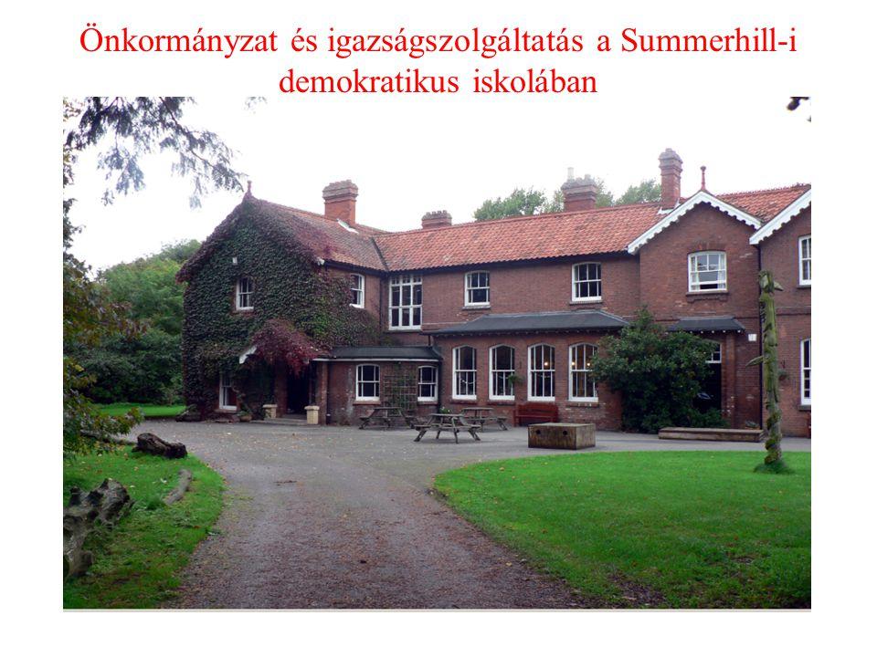 Önkormányzat és igazságszolgáltatás a Summerhill-i demokratikus iskolában
