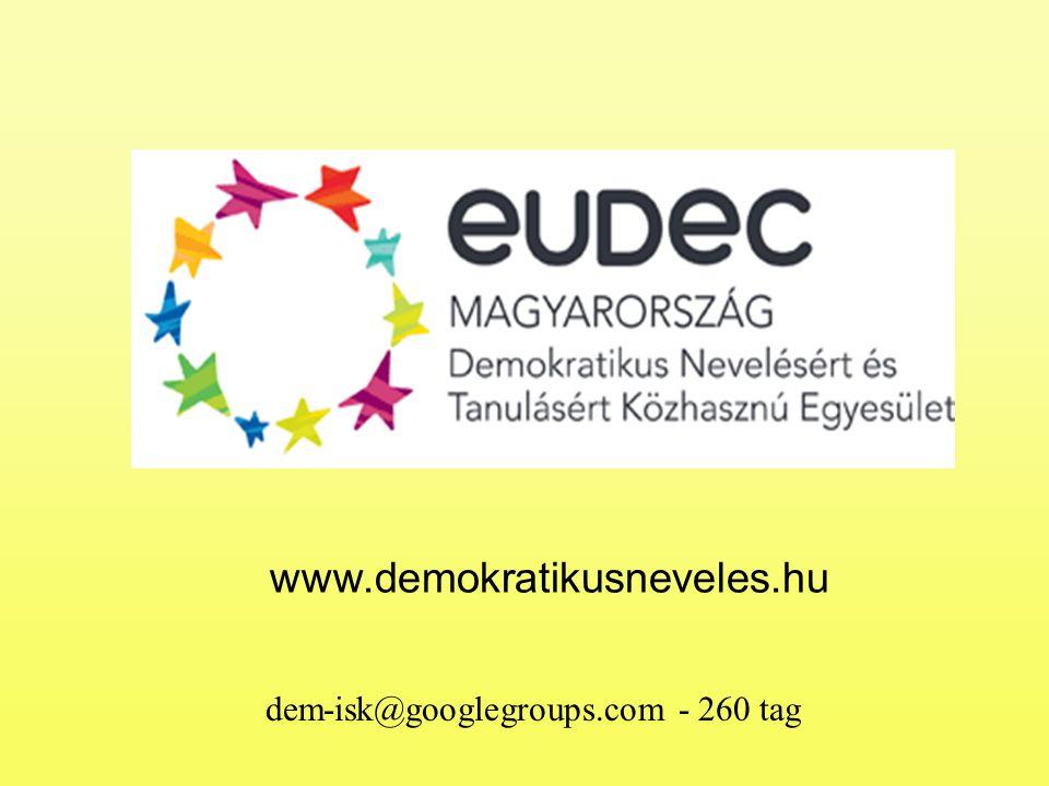 www.demokratikusneveles.hu dem-isk@googlegroups.com - 260 tag