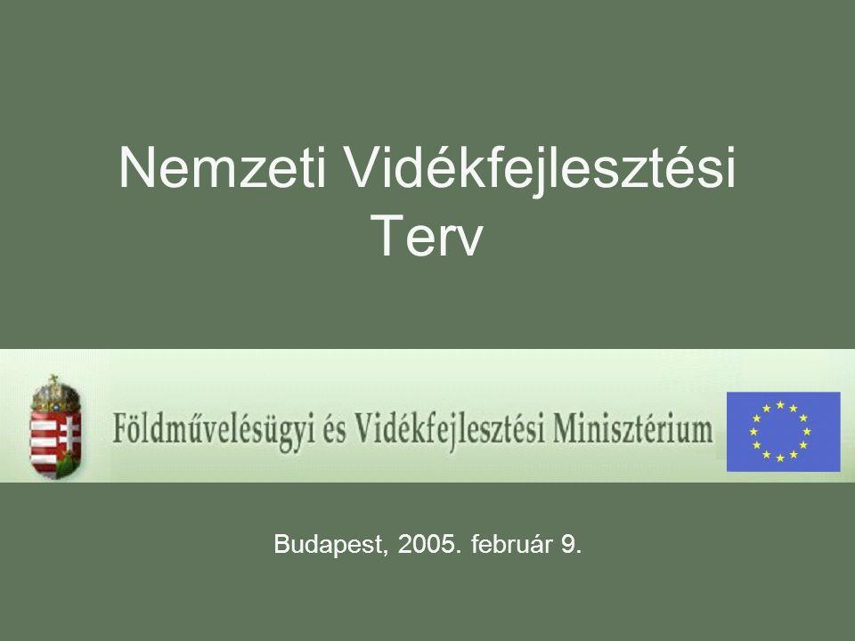 Nemzeti Vidékfejlesztési Terv Budapest, 2005. február 9.